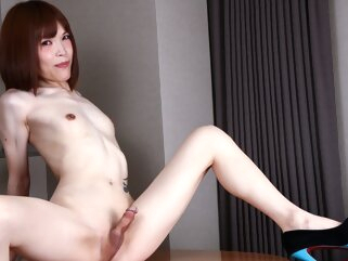 Yui Kawai Is Horny Again - TGirlJapan shemale asian shemale masturbation shemale red head