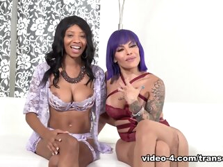 Club Foxxy September Reign Behind The Scenes shemale big tits shemale latin shemale lingerie